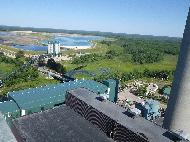 Aerial View of NID & Ash Silo Area