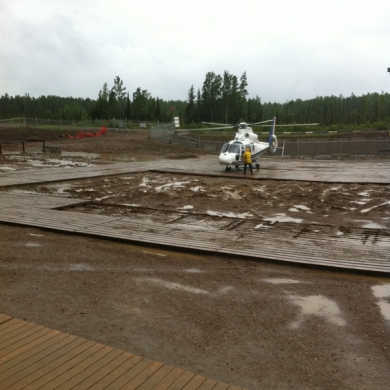 Helicopter to transport crews